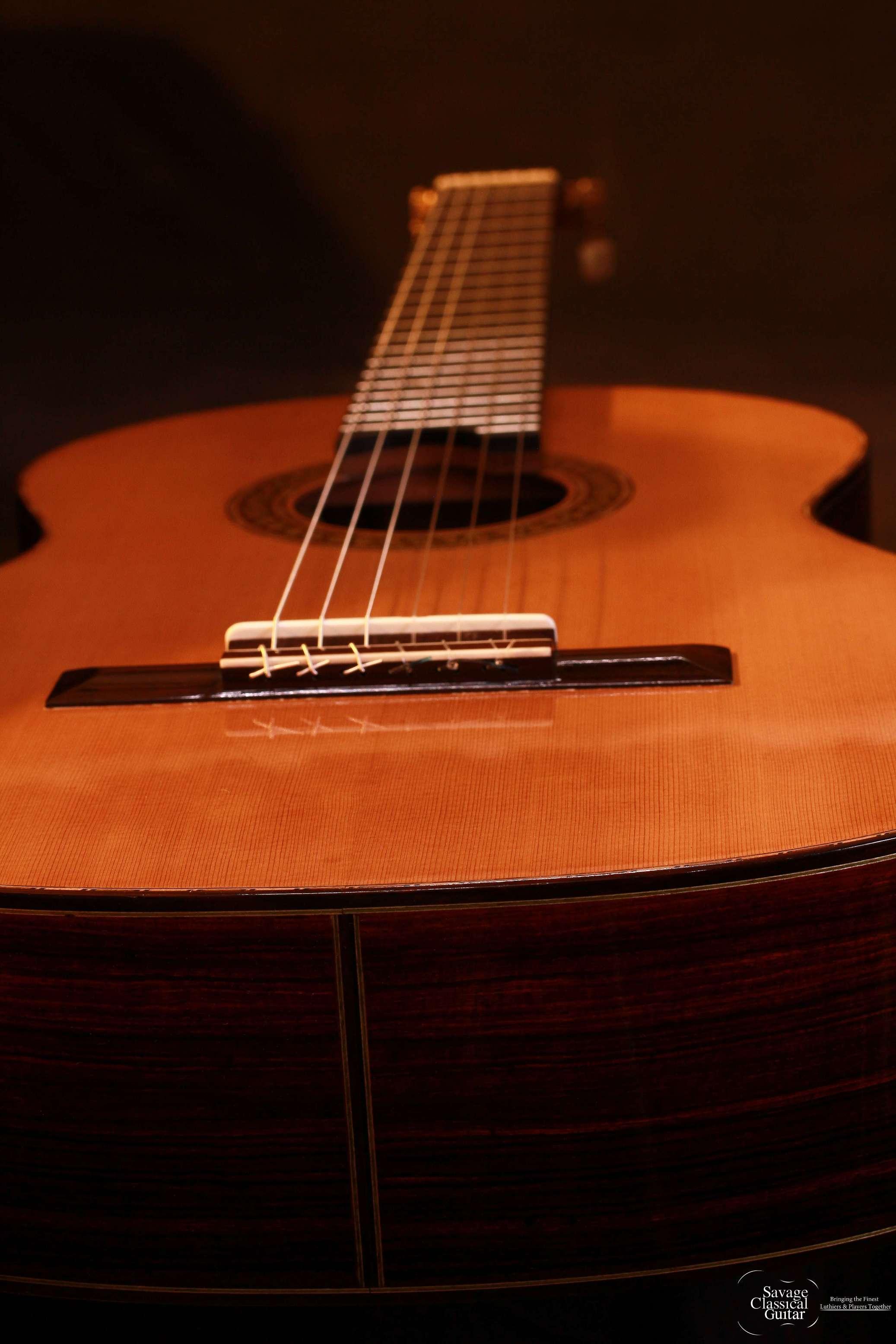 Larry Breslin 2013 Cedar Cocobolo Deerhead Guitars
