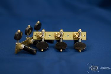 "Alessi Tuning Machines - ""Torres"" Model - Style 1 with Small Ebony Buttons"