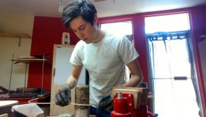 Michael Cadiz in his workshop