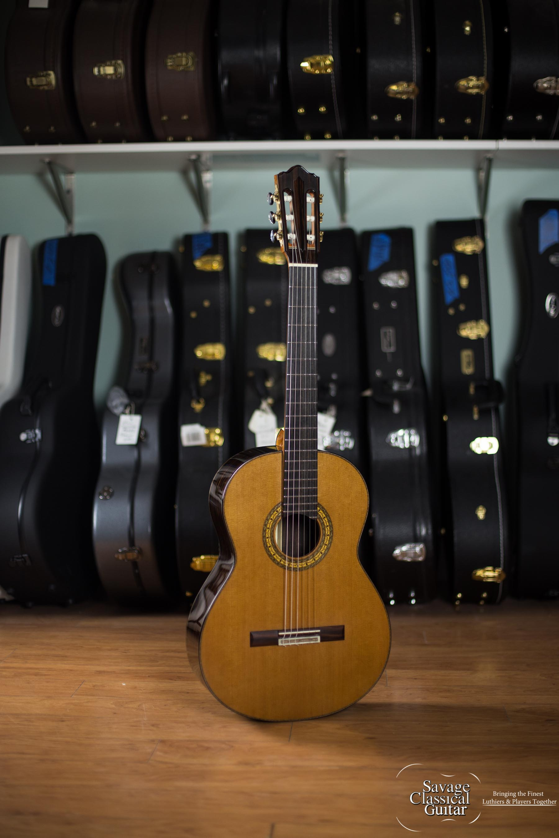 Jean Rompré Classical Guitar #150 2015 Cedar MacEbony