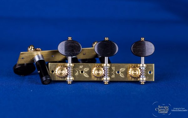 """Alessi Tuning Machines - """"Torres"""" Style 1 - Ebony Ovals"""