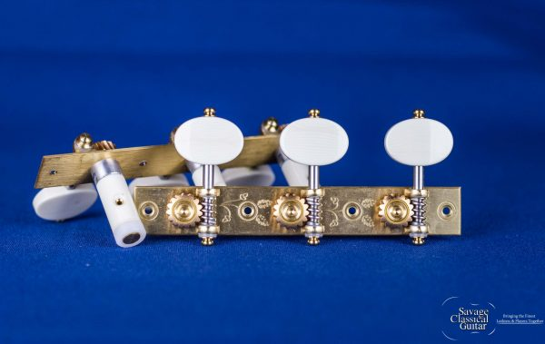 """Alessi Tuning Machines - """"Torres"""" Style 1 - Ivory Ovals"""