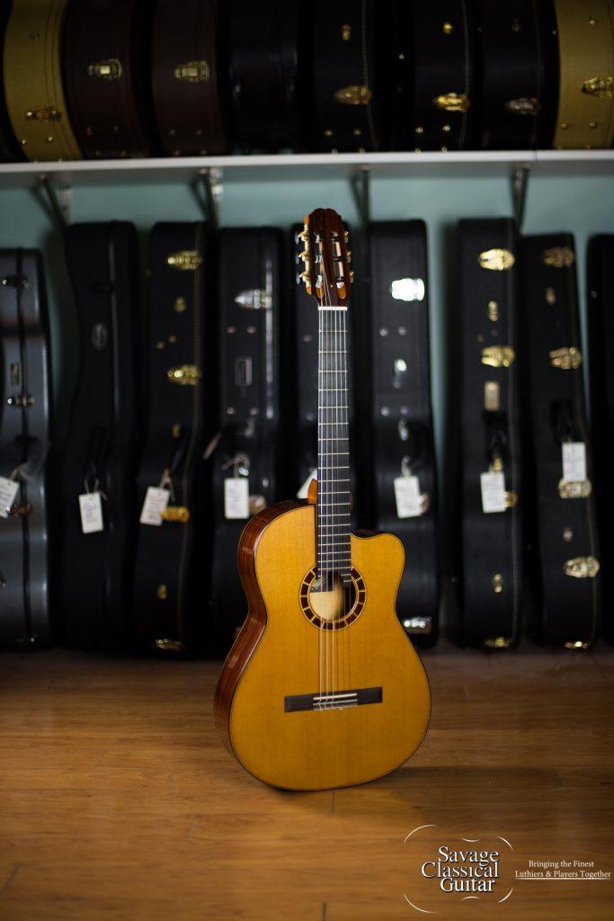 Alejandro cervantes signature crossover classical guitar - Cocobolo granada ...