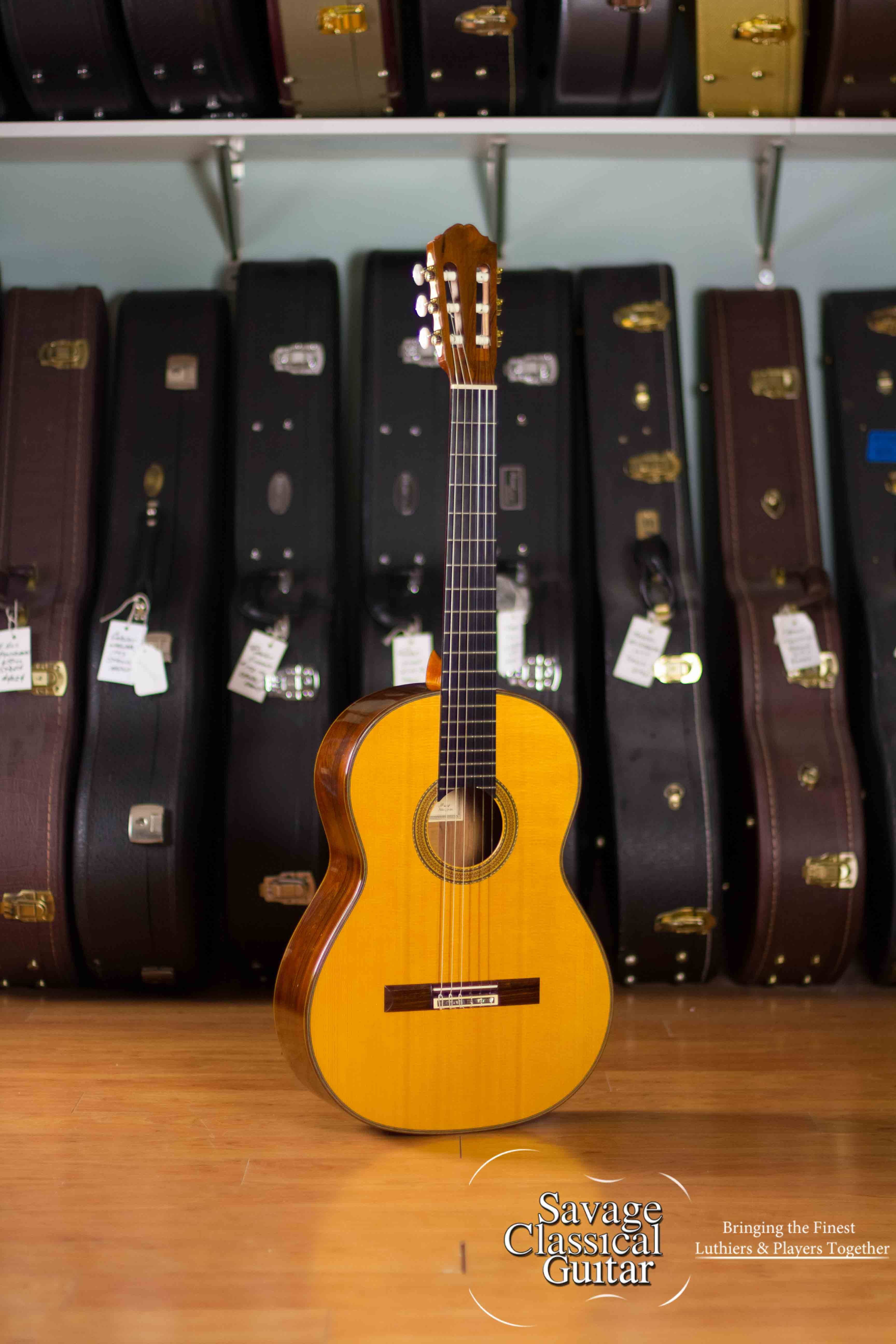 richard brun classical guitar for sale by savage classical guitar. Black Bedroom Furniture Sets. Home Design Ideas