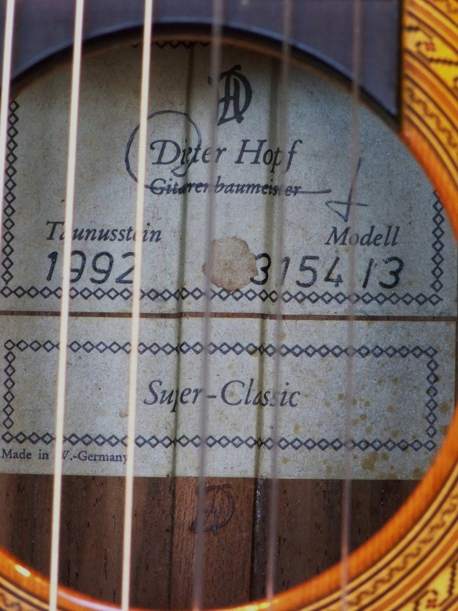 Dieter hopf 1992 super classic savage classical guitar for Classic house 1992