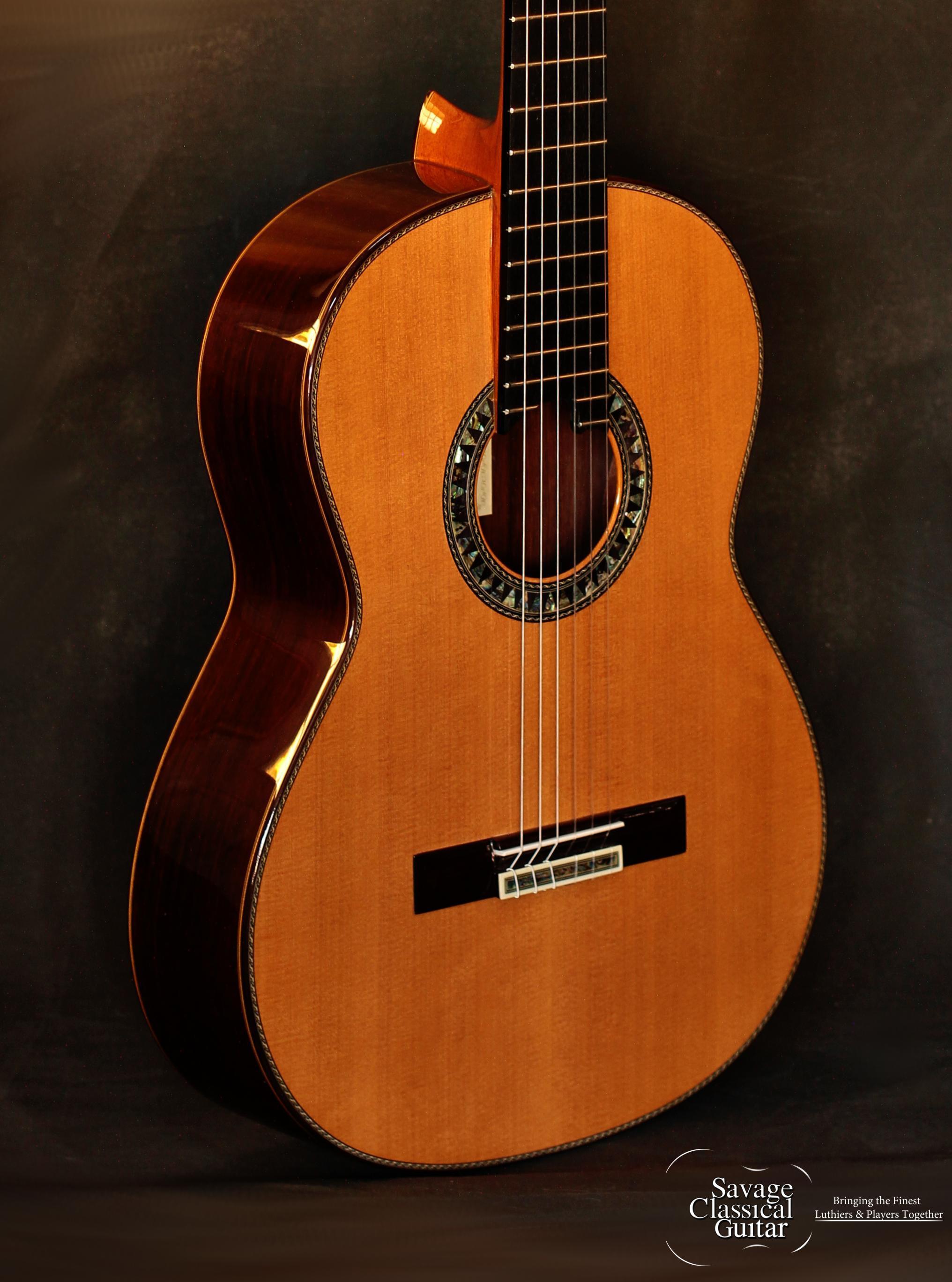 Manuel Adalid Anniversario 61 Cedar Savage Classical Guitar